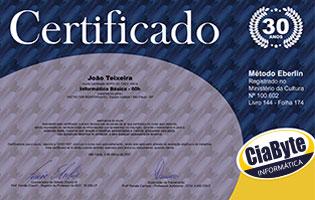 Certificado de Curso de Informática válido em todo o Brasil