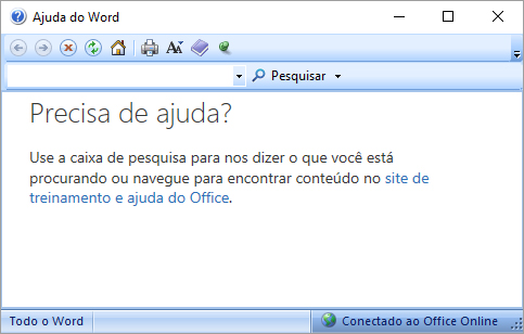 Word - Ajuda do Word
