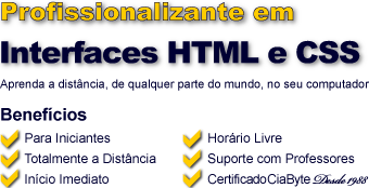 Curso de Interfaces HTML/CSS a Distância Online