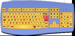 Teclado do PC para aulas grátis de informática online