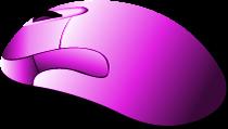 Mouse do PC para aulas grátis de informática online